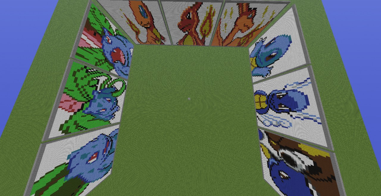 Charmander Pixel Art Template 001-009 Pokemon Pixel Art