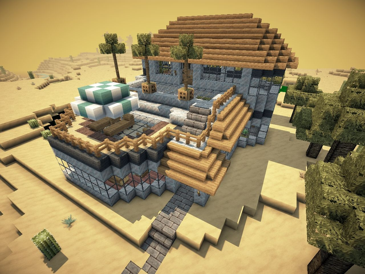 Modern desert mansion survival seed