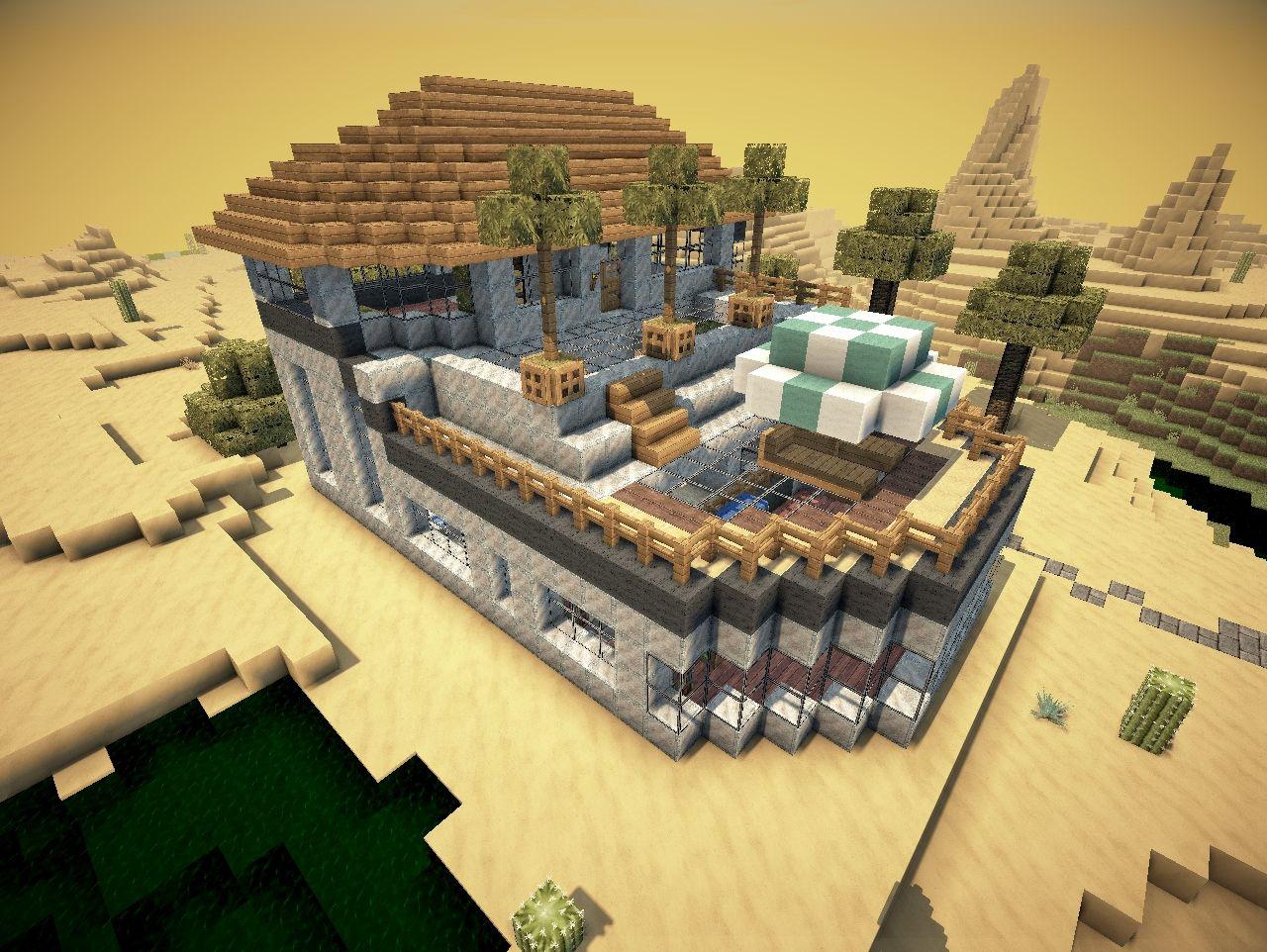 Modern Desert Mansion Survival Seed Minecraft Project