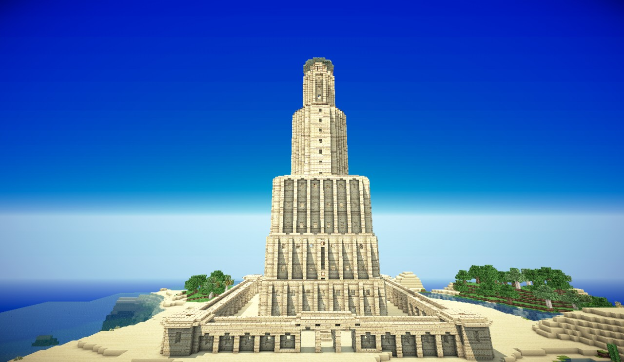 lighthouse of alexandria The lighthouse of alexandria is also known as the pharos this tower was built between 285-247 bc on the egyptian island of pharos it was an early landmark and lighthouse.