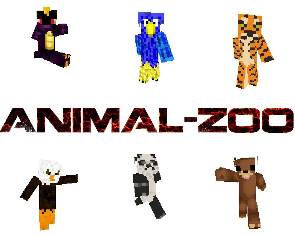 Animal-Zoo skins (8 skins) Minecraft Map