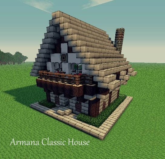 Armana buildings classic house minecraft project for Building classic small craft