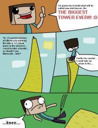 Minecraft Comic #1 : Arrow to the Knee Minecraft Blog
