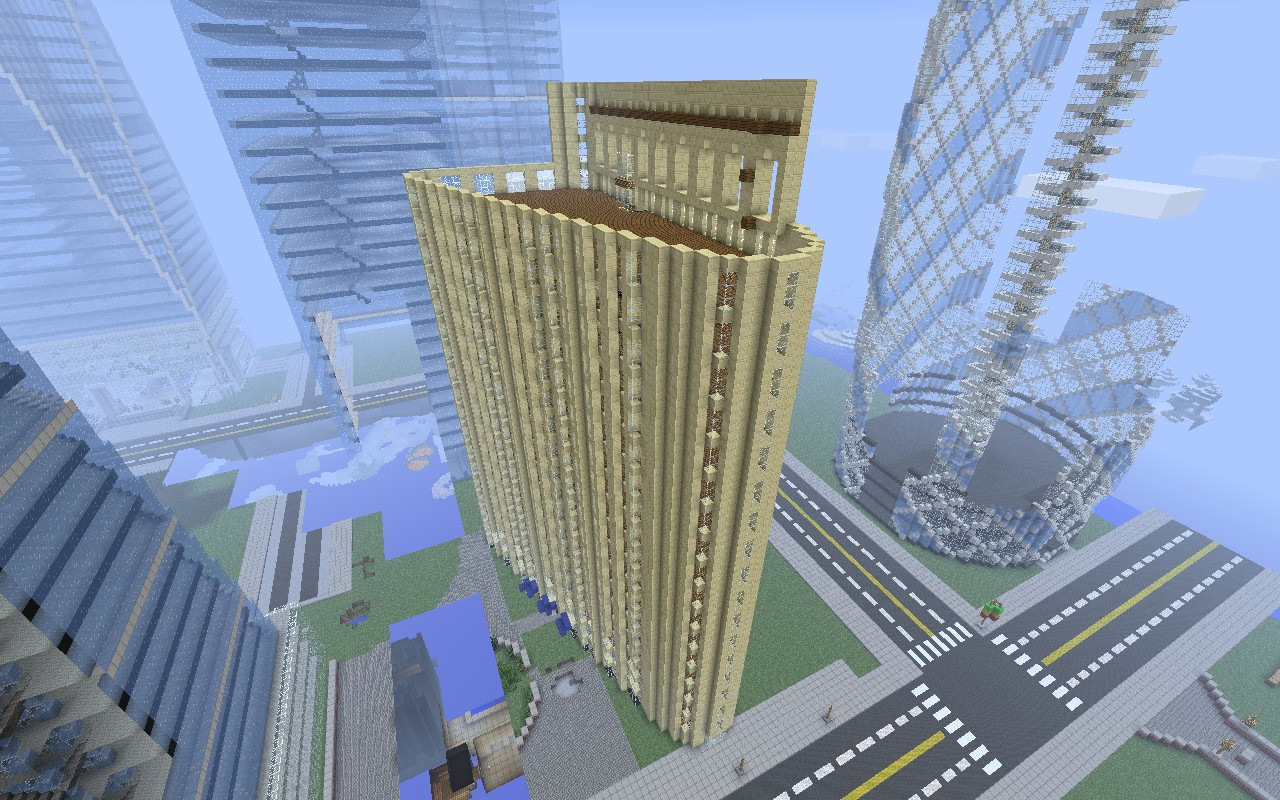 Flatiron Building Fuller Building Minecraft Project