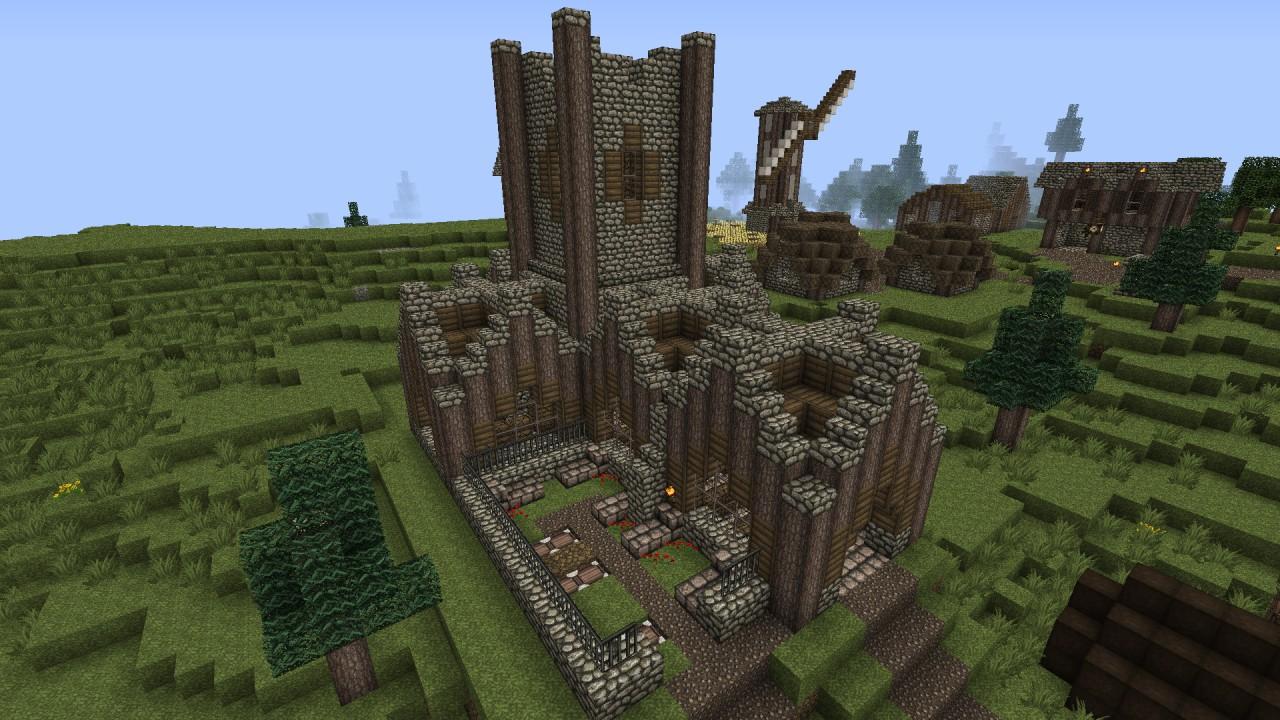 Minecraft Lets Build A Medieval Kingdom 11 Church