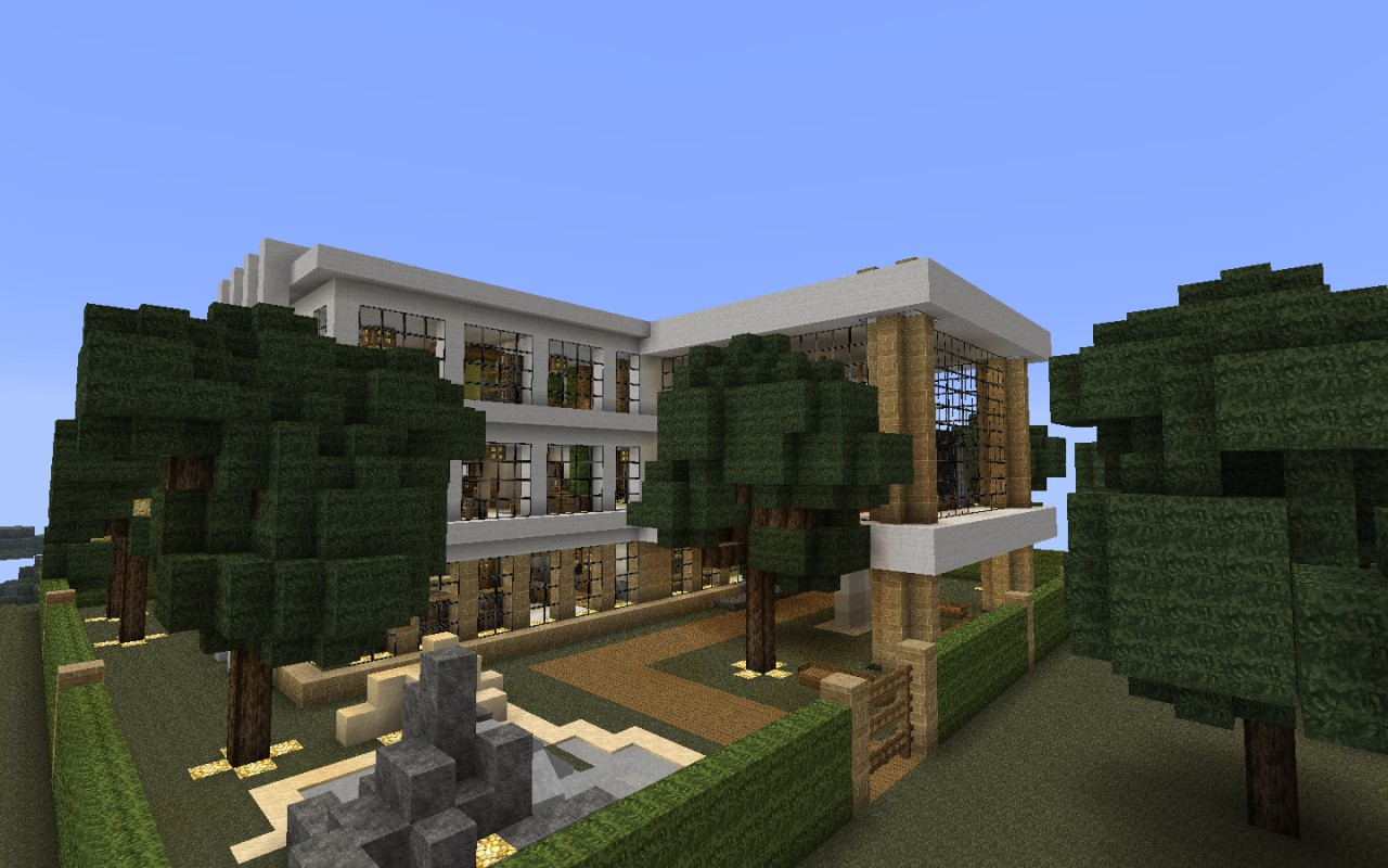 Modern House Survival And Creative Versions Minecraft Map