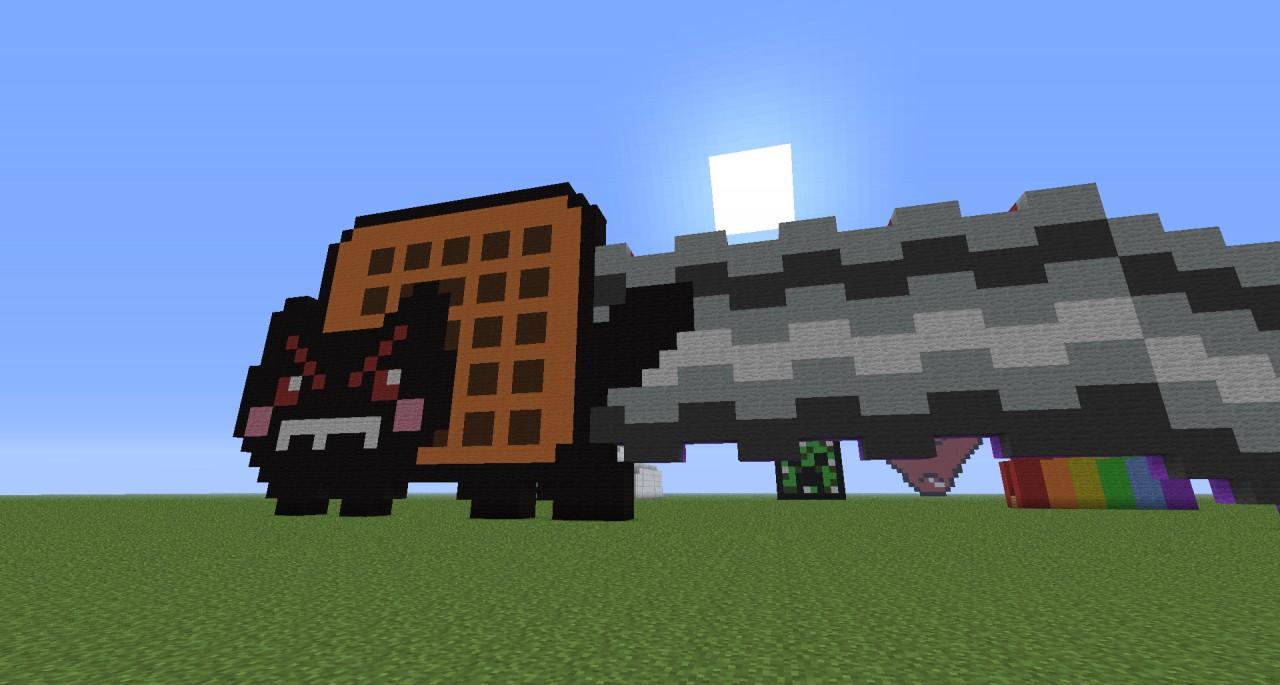 Pixel Art Minecraft Project Evil Nyan Cat Minecraft Grid
