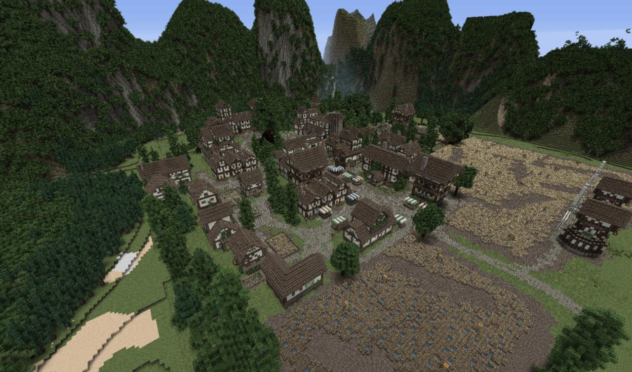 Medieval World With Big Castle  Steineichenst U00e4dt Minecraft Project