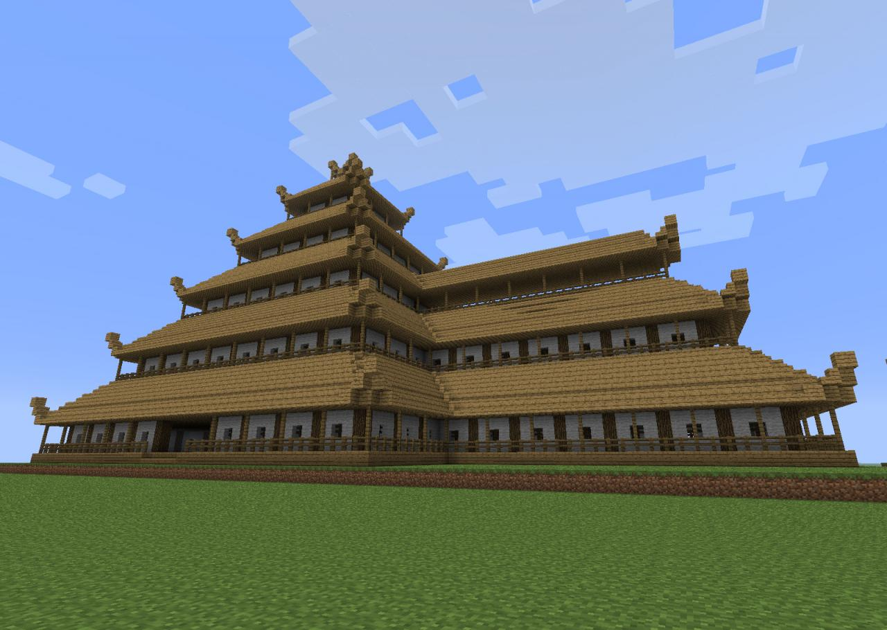 Here is another minecraft japanese castle hereb is a tim thinglink - Minecraft japanese village ...
