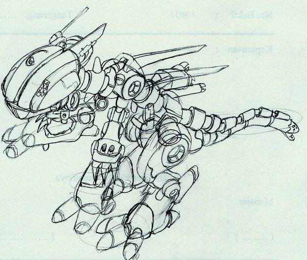 robot dragon schets minecraft blog