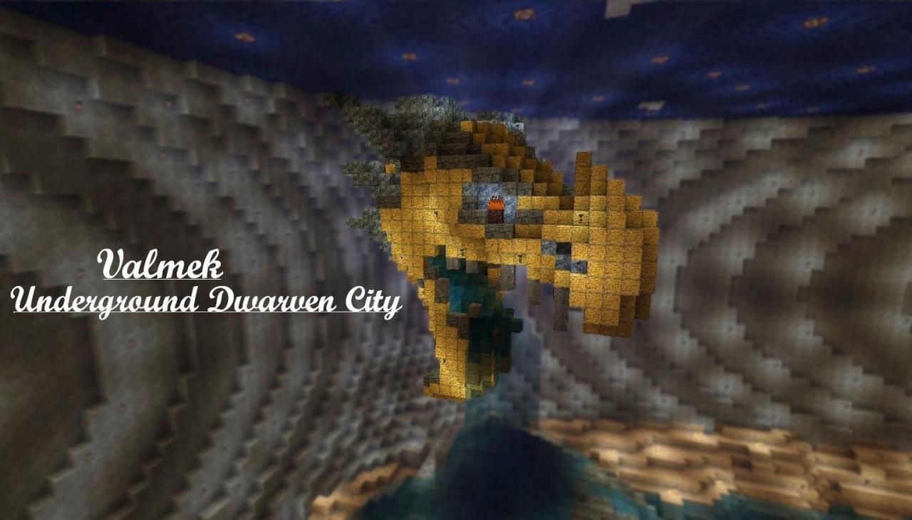 Valmek-Underground Dwarven City Minecraft Project