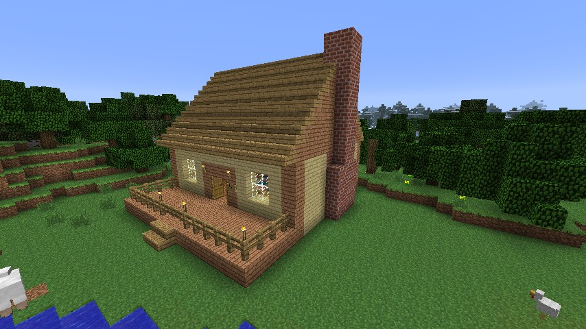 Cute cabin fever minecraft project for Photos of cute houses
