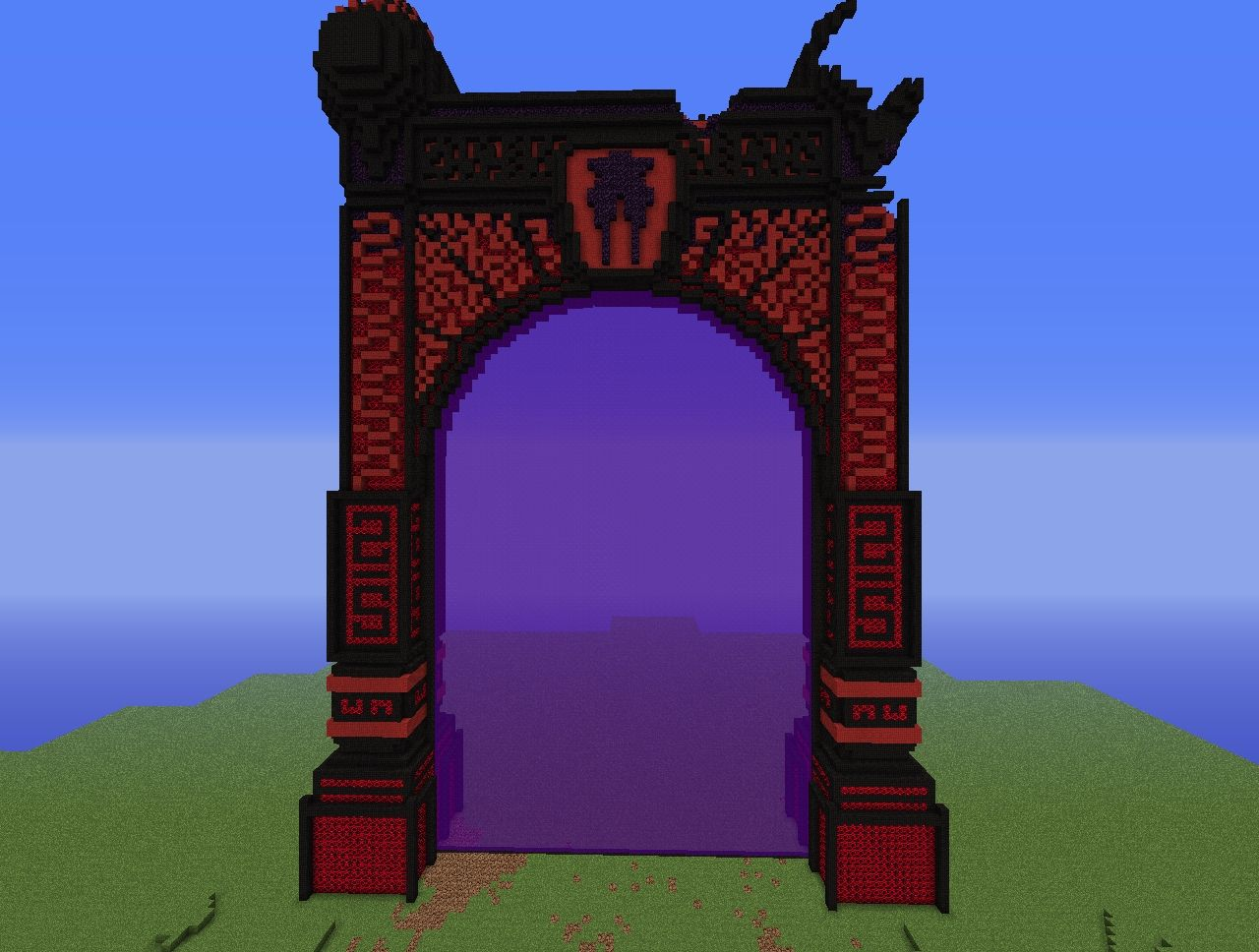 Huge Nether Portal Working on Cool Minecraft House Idea