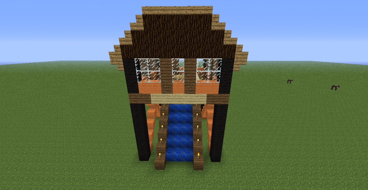 how to make a modern day house in minecraft