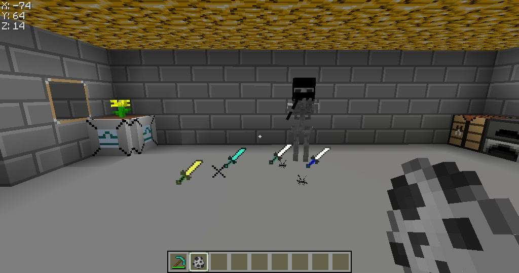 The Katanas The Bow And The Skeleton (Bow And Arrows Look Same)