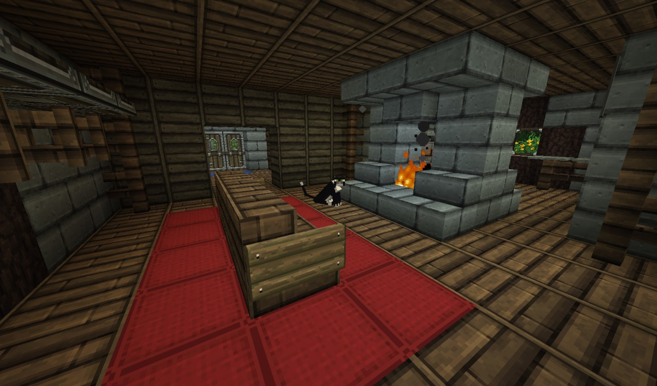 minecraft living room downstairs living room