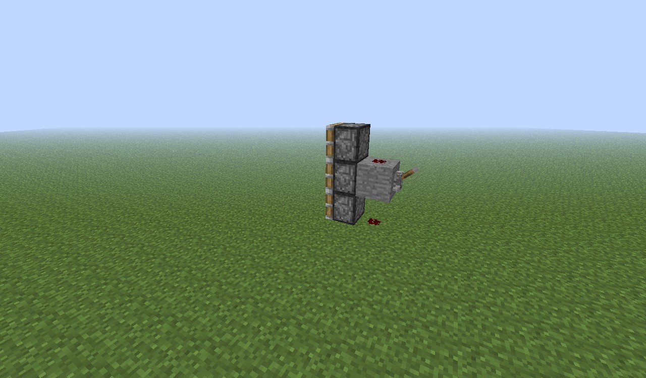 how to make a redstone door with two levers