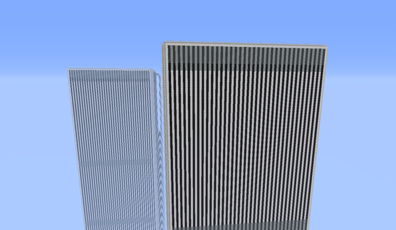world trade center twin towers no antenna minecraft project