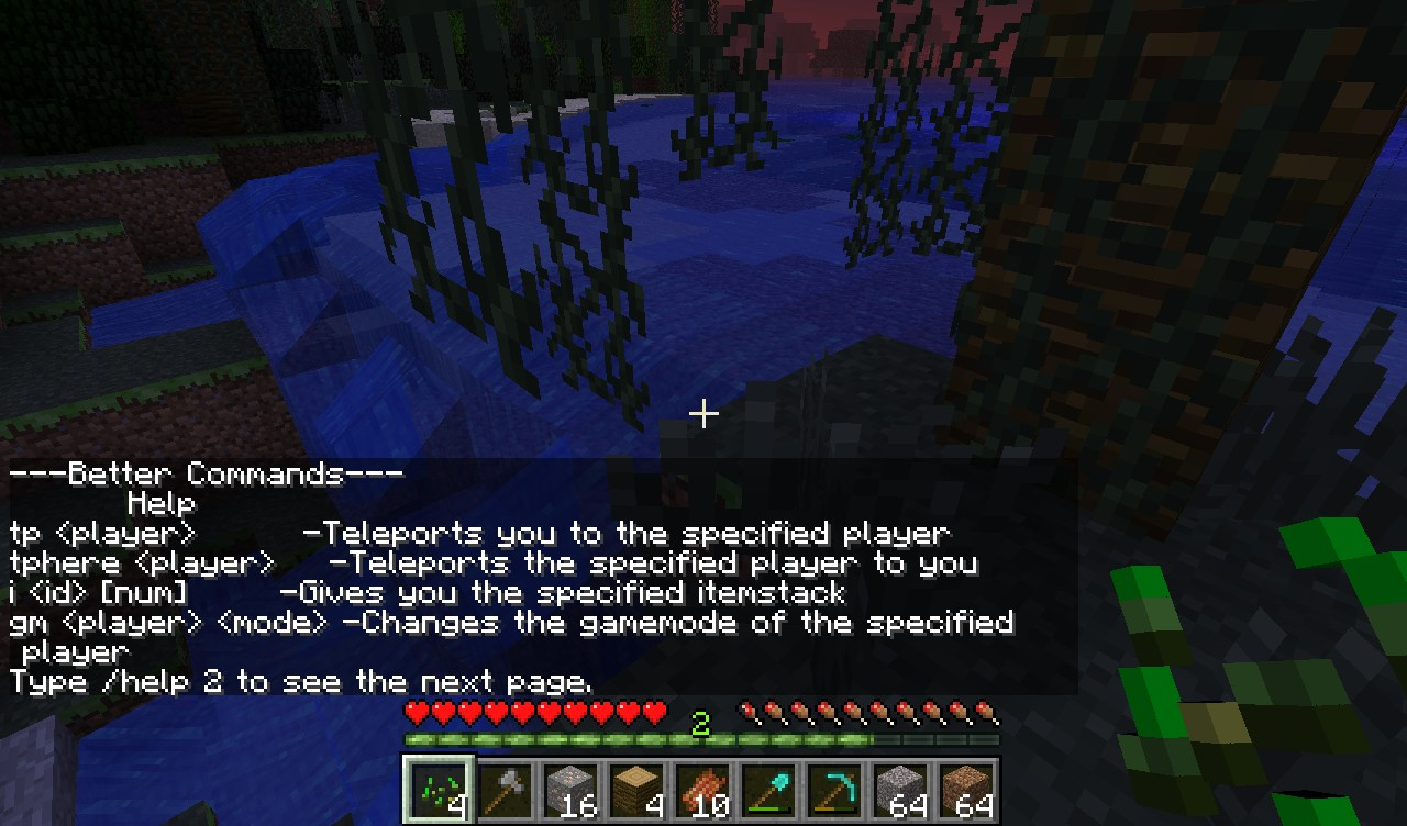 Better Commands For Vanilla SMP Minecraft Mod - Minecraft player teleport command