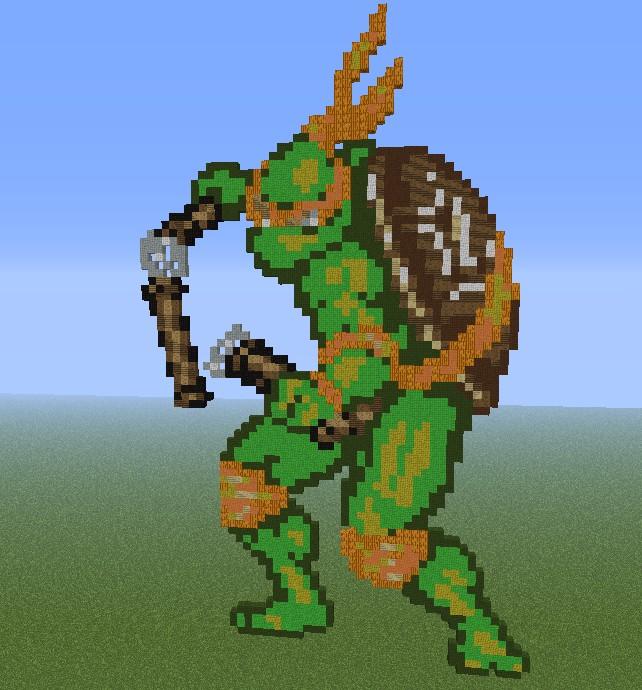 Michelangelo Pixel Art TMNT