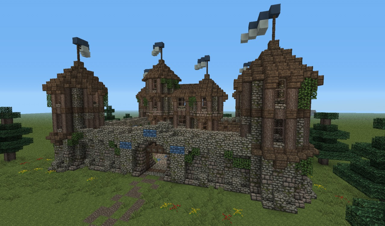 Medieval fortress minecraft project for Fortress house