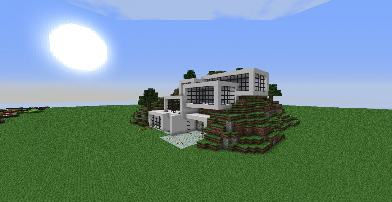 Modern house 1 new with schematic minecraft project for Modern house schematic