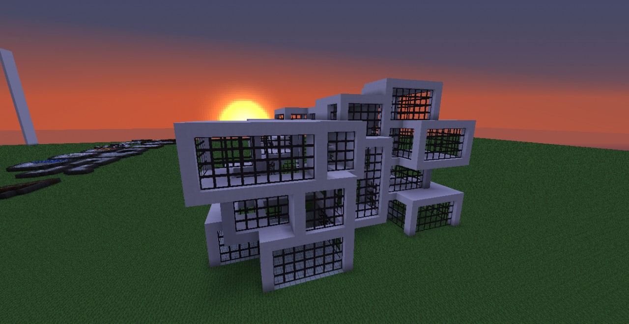 Modern house 2 new with schematic minecraft project for Modern house schematic
