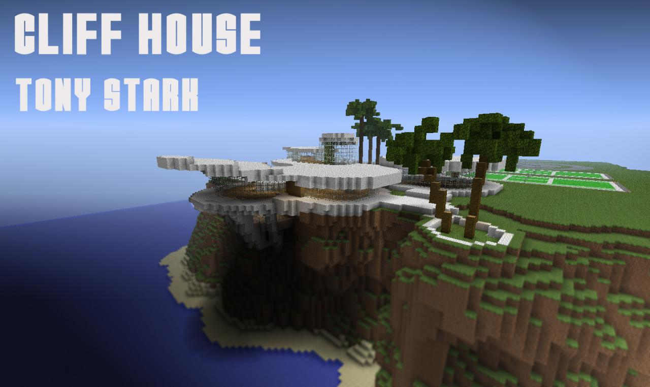 Super Cliff House Tony Stark Iron Man Minecraft Project Hairstyles For Women Draintrainus