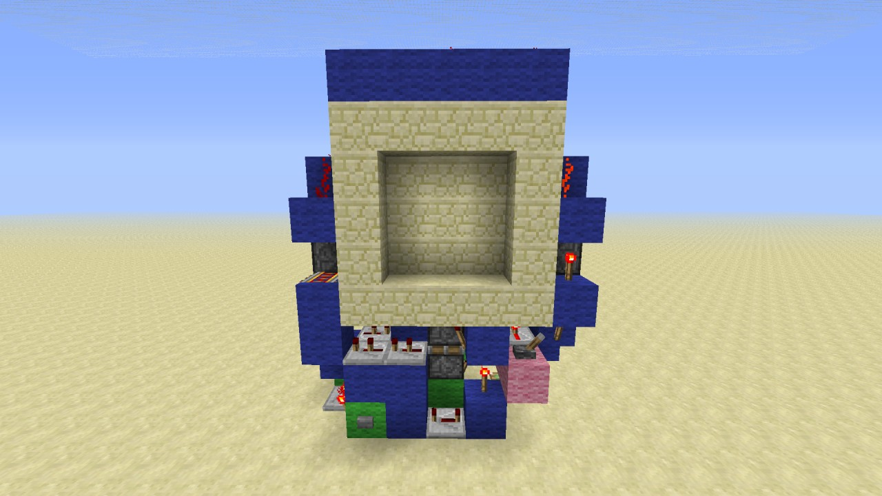 Super compact 3x3 piston door minecraft project for Porte 3x3 minecraft