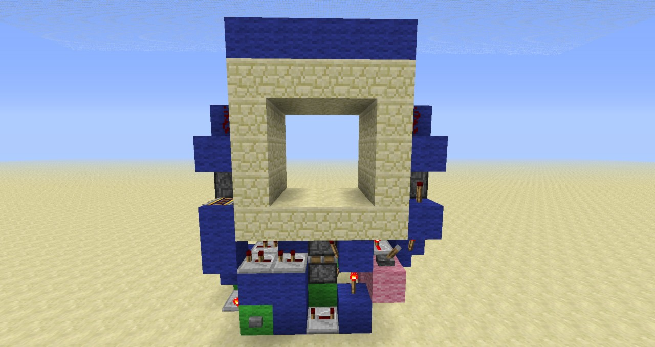 super compact 3x3 piston door minecraft project