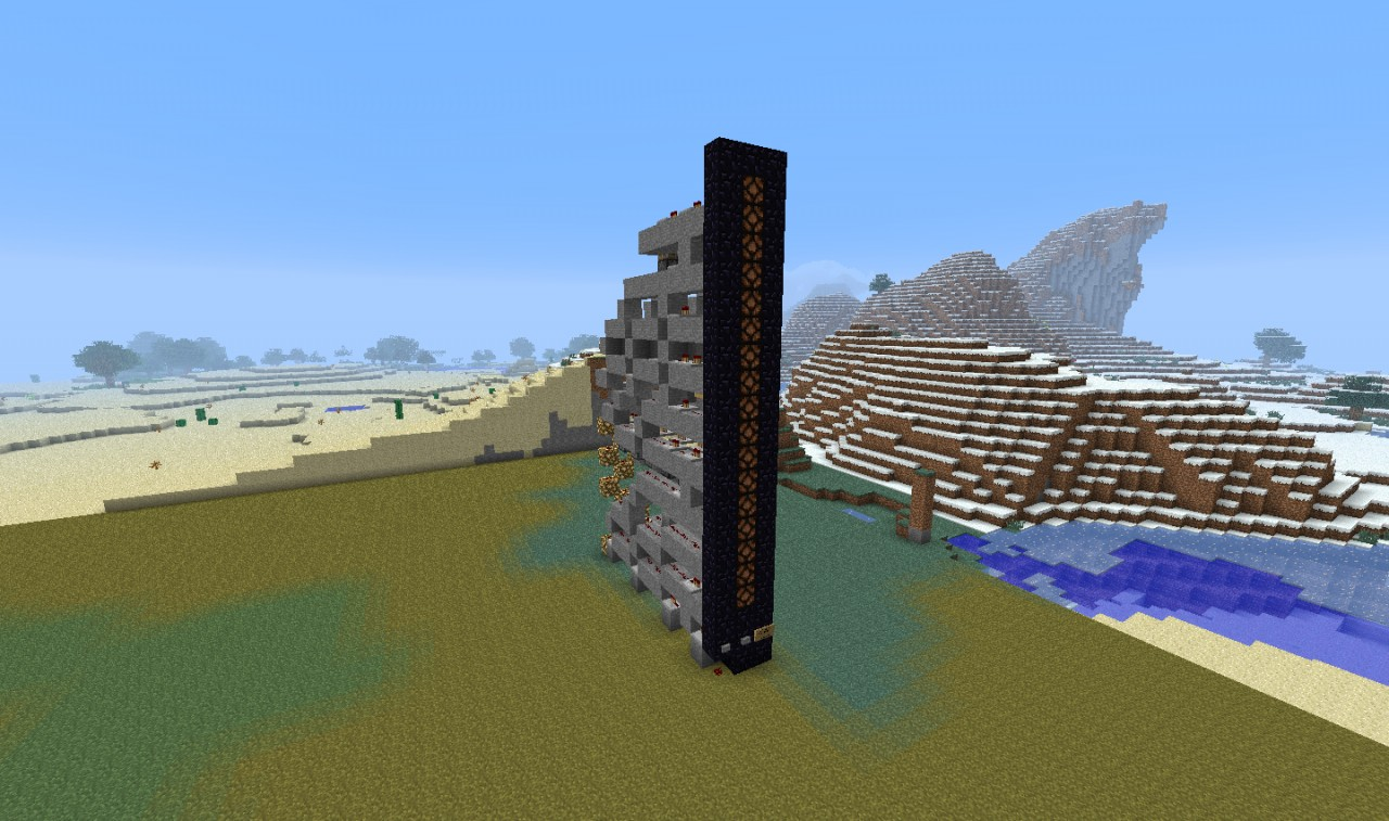 Vertical Redstone Counter Minecraft Project Wiring Mod The