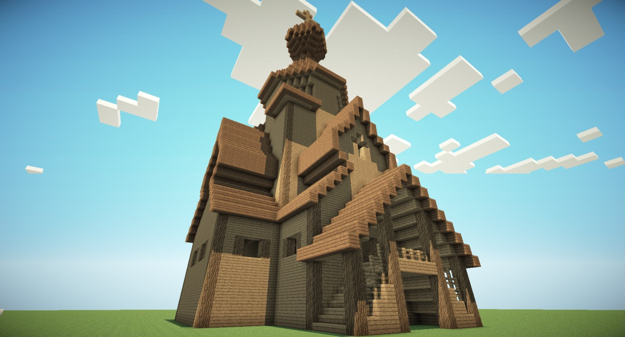 russian wooden church minecraft project