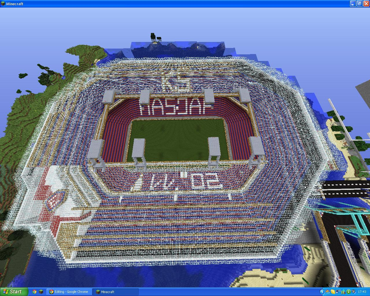 big football stadium minecraft project
