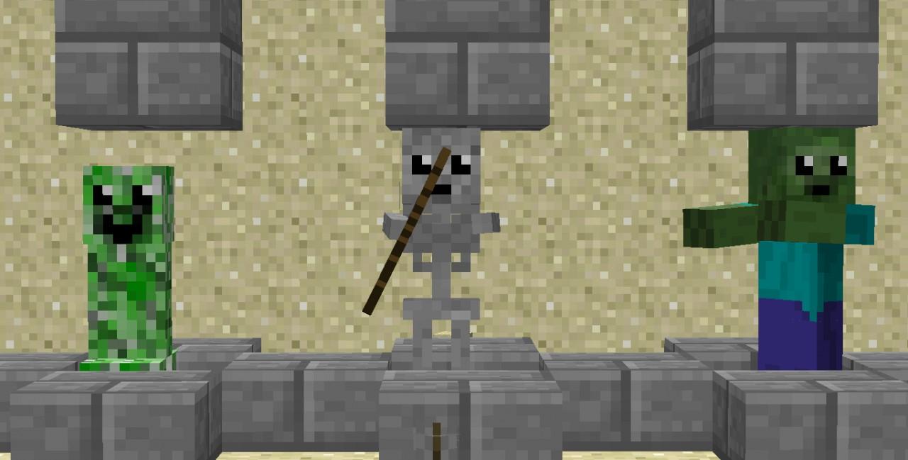 Cute Mobs Texture Pack Minecraft Texture Pack  Minecraft Cute Skeleton