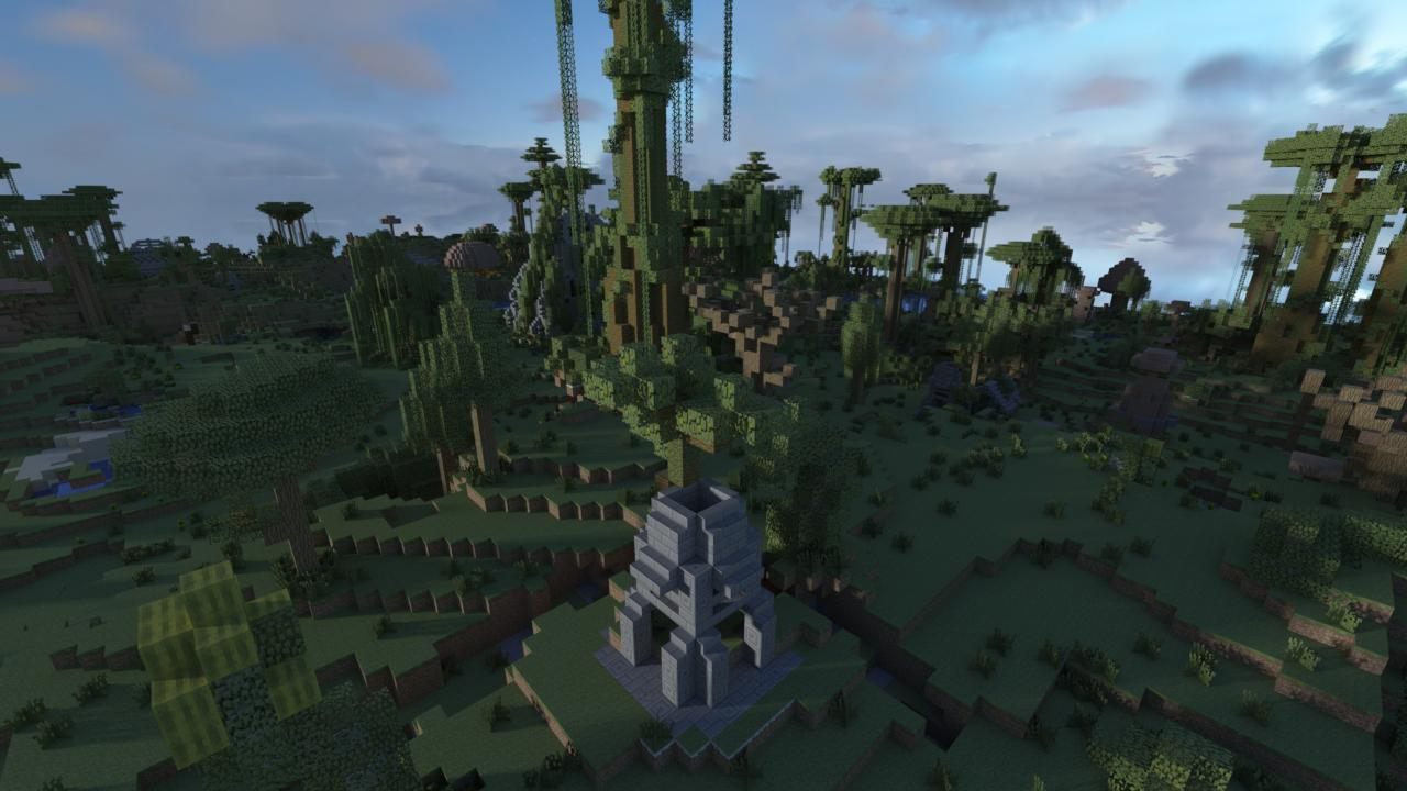 Custom terrain! Randomly spawning trees and structures for a unique survival experience!