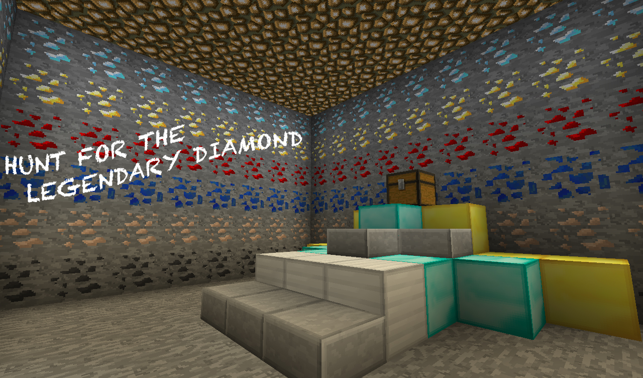 Player CoOp Adventure Map Hunt For The Legendary Diamond - Minecraft adventure maps fur 3 spieler