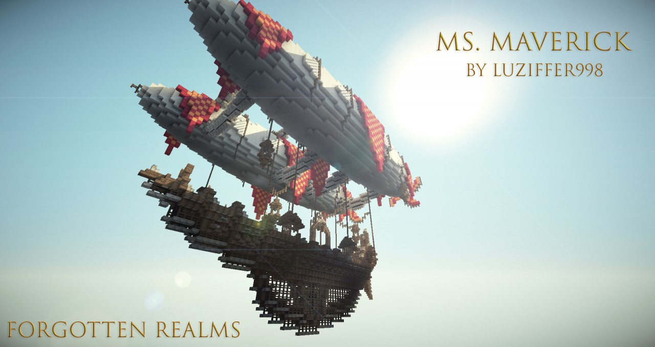 MS Maverick - Fantasy Airship Minecraft Project