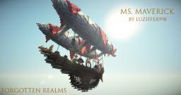MS Maverick - Fantasy Airship Minecraft Map & Project