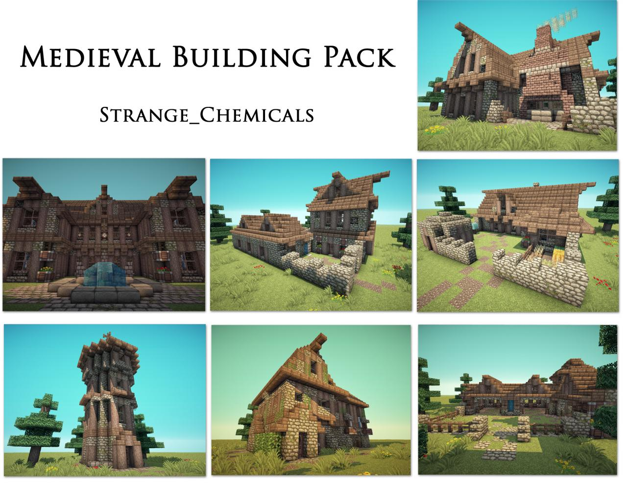 Medieval Building Pack By Strange Chemicals Minecraft Project