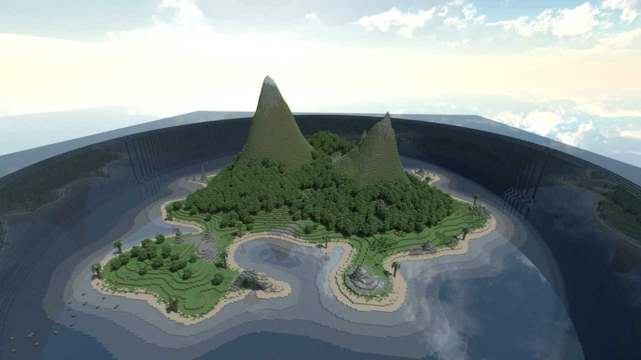 Render of the Island