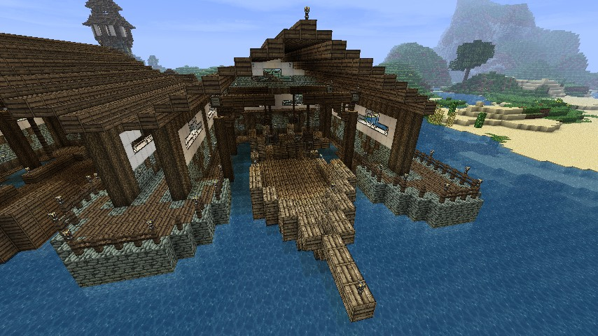 boat dock design ideas pirates cove minecraft project