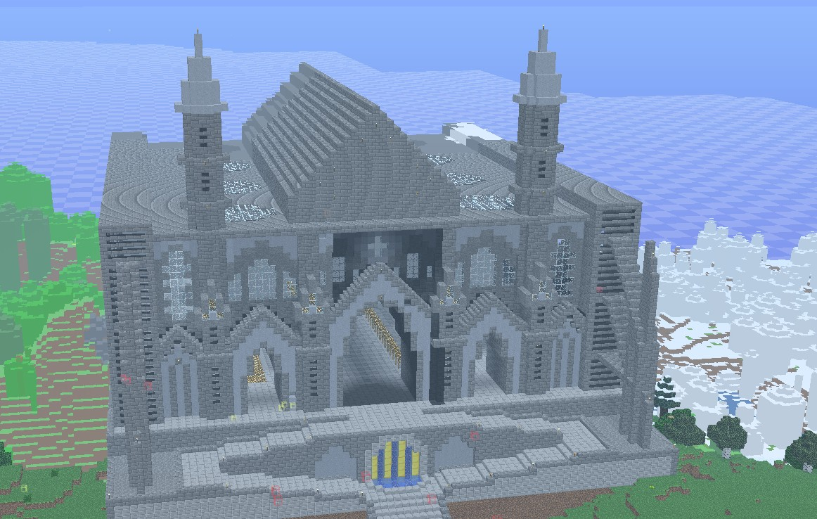 Images of Minecraft Cathedral Schematic - #rock-cafe