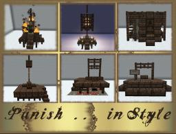 Medieval Executioner's Pack -- NOW Includes Burning Stake, Asylum Cell, Gibbet, Holding Cell, Guillotine, Gallows & Public Stockade Minecraft