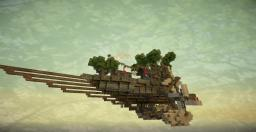 Pluma Lignum airship.  world save and schematic and video Minecraft Map & Project