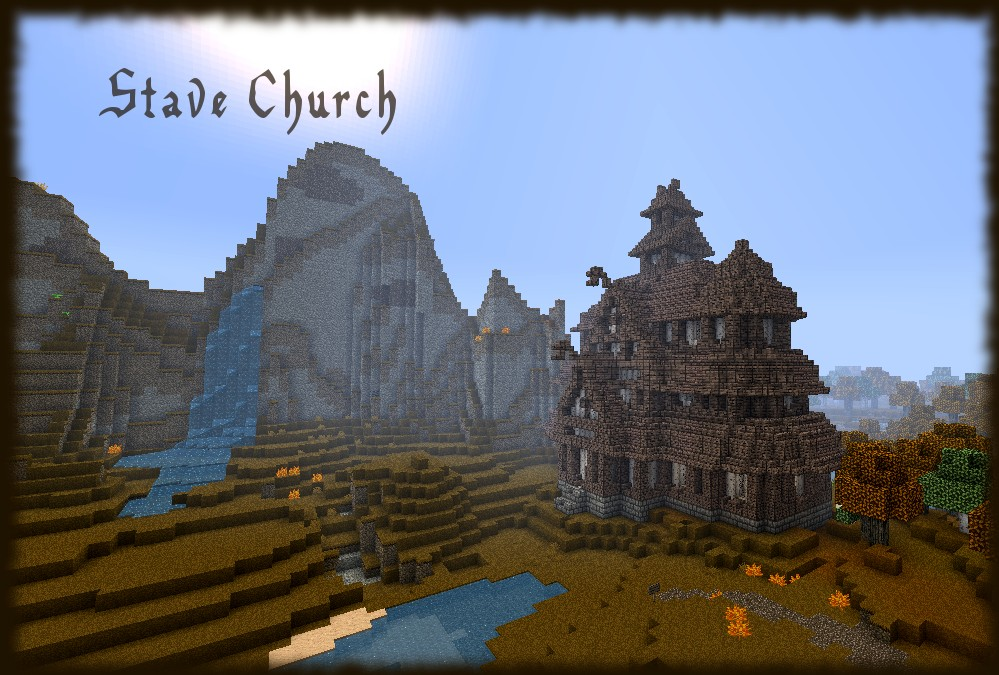 Fantasy Medieval Norwegian Stave Church Minecraft Project