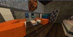 super modern villa + redstone Minecraft Map & Project