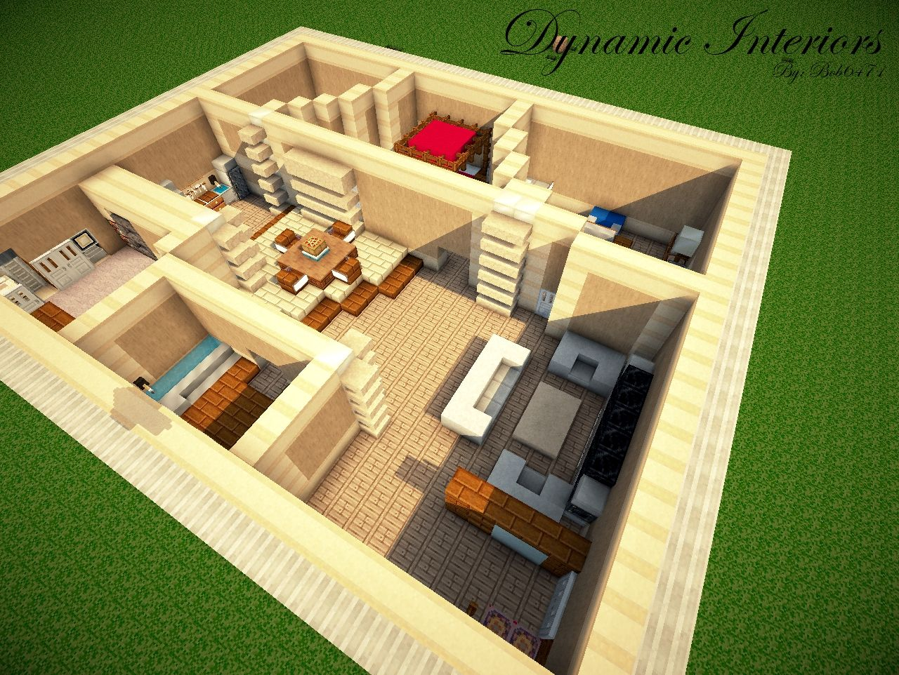 How to make a modern interior minecraft blog - Awesome home interiors decorations in modern setting ...