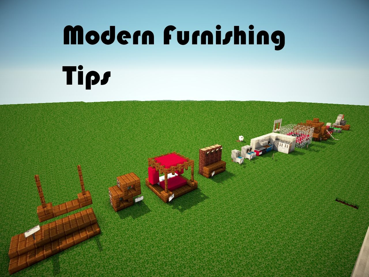 Modern Furnishing Tips Minecraft Project