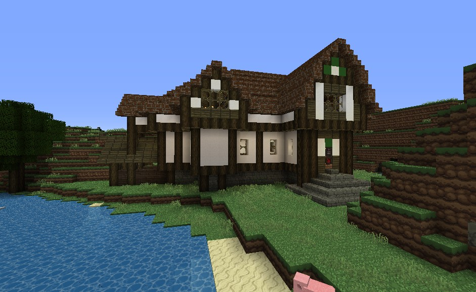 Big Farm House With A Little Mine And Little Stable