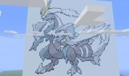 White Kyurem Pixel Art Minecraft